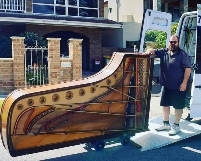 Loading piano.